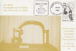 Carte   Oblitération   DAGUIN    JOURNEE  DU  TIMBRE   NANTES   1985 - Cartes-Maximum