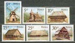 POLAND MNH ** 2870-2875 ARCHITECTURE POLONAISE EGLISE MOULIN - 1944-.... République