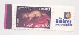 """3804 A - Timbres De Naissances  """"C'est Une Fille""""  (2005) Avec Vignette - Frankreich"""