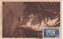 CARTE POSTALE TUNISIE.UN SENTIER DANS L'OASIS. PA N° 3 SEUL - Airmail