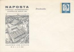 B Mi.Nr. PU 30/2**  NAPOSTA NATIONALE POSTWERTZEICHEN- AUSSTELLUNG BERLIN 1963 - Sobres Privados - Nuevos