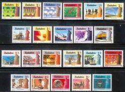 ZIMBABWE 1985, Mint Never Hinged Stamps,Definitives, Nrs. 309-330, #5089 - Zimbabwe (1980-...)