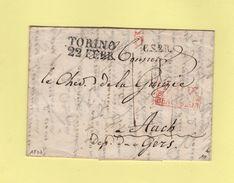 Torino - Destination Auch - Courrier De 1837 - 1. ...-1850 Prefilatelia