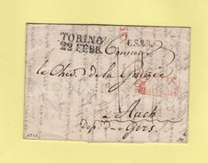 Torino - Destination Auch - Courrier De 1837 - Italie