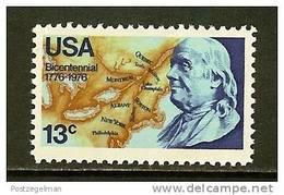 USA 1976 MNH Stamp(s) Franklin 1277 - Ongebruikt