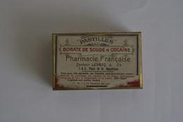 Boite Cocaïne Et Borate De Soude Pastilles Medicale - Scatole