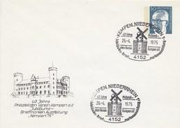 B Mi.Nr. PU 50/2  40 Jahre Philatelisten Verein Kempen E.V. - Jubiläums-Briefmarken-Ausstellung, Kempen, Niederrhein - Privatumschläge - Gebraucht