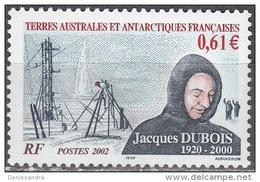 TAAF 2002 Yvert 331 Neuf ** Cote (2015) 2.40 Euro Jacques Dubois - Terres Australes Et Antarctiques Françaises (TAAF)