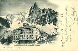 Cpa Précurseur 1899 CHAMONIX MONT BLANC 74 Le Montanvert Et L' Aiguille Du Dru ( Hôtel Du Montenvers ) - Paire 5c IIB - Chamonix-Mont-Blanc