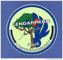 Autocollant - Gendarmerie Pour L´environnement - Logo - écologie - Défense - Gendarme - Militaria - Sticker - Stickers
