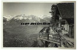 Avelengo, Cafè Belvedere, Hafling, Alte Foto Postkarte 1938 - Bolzano (Bozen)