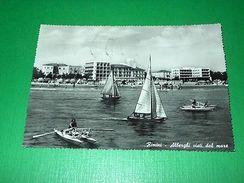 Cartolina Rimini - Alberghi Visti Dal Mare 1957 - Rimini