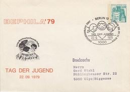 B Mi.Nr. PU 70/9  BEPHILA'79 - Tag Der Jugend, Berlin 12 - Private Covers - Used