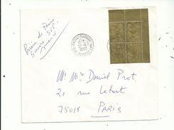 Affranchissement FANTAISISTE...avec UN BLOC DE 4 Recouvert En Doré......27/11/1992....à Voir - Abarten Und Kuriositäten