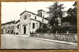 """83 - CPSM """"SIX-FOURS-LA-PLAGE - Église Et Jardin"""" - Neuve - Six-Fours-les-Plages"""