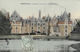 Bonnétable (Sarthe) - Le Château, Le Lac Et La Cour D'Honneur - Edition G. Roncière - Carte Colorisée - Bonnetable