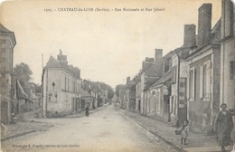 Château Du Loir (Sarthe) - Rue Nationale Et Rue Jahard - Phototypie E. Huguet - Carte N° 1303 Non Circulée - Chateau Du Loir