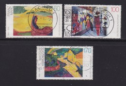 GERMANY 1992 Used Stamp(s) Paintings Nrs. 1617-1619 - [7] Federal Republic