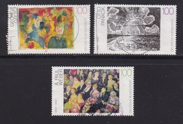 GERMANY 1993 Used Stamp(s) Paintings, Complete Serie Nrs. 1656-1658 - Used Stamps