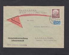 GEMEINDEVERWALTUNG SCHWARMSTEDT: NACHNAHME. - Briefe U. Dokumente
