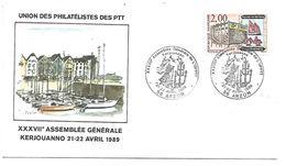 OBLITERATION ASSEMBLEE GENERALE UPPTT à KERJOUANNO MORBIHAN 1989 - Marcophilie (Lettres)