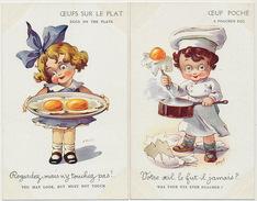 Serie 5 CP Par A. Wuyts Oeufs Pochés, Plat, Brouillés, Frais, Omelette Set About Eggs - Recettes (cuisine)