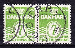 Denmark Skilling (1437) Stjernestempel Star Cancel UGGERBY På Parstykke On Pair ! - Autres