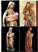 Lot 8 Cpm - 71 - AUTUN Eglise Notre-Dame SAINT-CREPINIEN Vierge Bulliot Musée Enfant Jésus SAINTE-CATHERINE -BARBE Bois - Autun