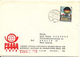 Czechoslovakia Cover PRAGAS 78 Sent To Germany 9-12-1977 - Czechoslovakia