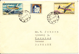 Czechoslovakia Cover Sent To Denmark 13-1-1968 With Topic Stamps - Czechoslovakia