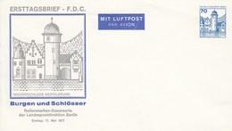 B Mi.Nr. PU 76/3** Ersttagsbrief Wasserschloss Mespelbrunn Mit 70 Pf Burgen Und Schlösser - Berlin (West)