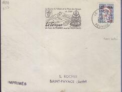 """Lettre Flamme =o  Le Tampon Réunion 28-9 1966 """" Le Tampon Un Coin De France Sous Les Tropiques - Sonstige"""