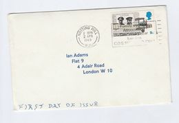 1969 Notting Hill GB FDC 5d Alcock SLOGAN FAMILY WELFARE ASSOC CENTENARY Cover Stamps Aviation Aircraft - FDC