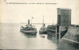 N°54522 -cpa Saint Nazaire -arrivée Du Saint Christophe- - Bateaux