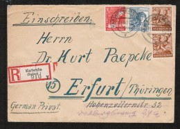 GERMANY      1947 OCCUPATION REGISTERED COVER (26/10/47) - Amerikaanse, Britse-en Russische Zone
