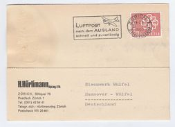 1960 SWITZERLAND Stamps COVER SLOGAN Illus AIRCRAFT Fast Reliable Airmail To Abroad, Card - Airplanes