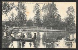MONCOUTANT Pêche En Barque Sur La Sèvre (Vergnault) Deux-Sèvres (79) - Moncoutant