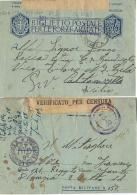 BIGLIETTO FRANCHIGIA WWII POSTA MILITARE 153 SEZ A 1943 DELNICE CROAZIA X GELA - 1900-44 Vittorio Emanuele III