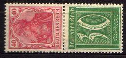 Deutsches Reich, 1921, Zusammendruck Mi S 29 * [150717XIX] - Unused Stamps