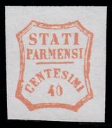 Parma - Governo Provvisorio: 40 C. Rosso Bruno - 1859 - Parma