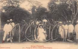 CONGO FRANCAIS - Topo H / Passage De Mme B à Ouesso - Beau Cliché Animé - Congo Français - Autres