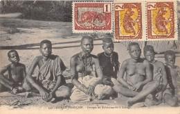 CONGO FRANCAIS - Topo H / Groupe De Tchikoumbis à Loango - Beau Cliché Animé - Congo Français - Autres