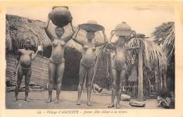 CONGO FRANCAIS - Topo H / Agouévé - Jeunes Filles Allant La Rivière - Nu Africain - Congo Français - Autres