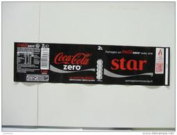 """Etiquette Soda COCA COLA ZERO """"STAR""""  2 L - Labels"""