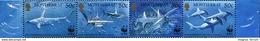 1999 Montserrat, Great Hammerhead Shark, WWF, 4 Stamps, MNH - W.W.F.