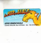 ERMENONVILLE MER DE SABLE AUTOCOLANT - Stickers