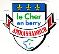 LE CHER EN BERRY AMBASSADEUR AUTOCOLANT - Autocollants