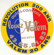AUTOS CAMIONS LOUEZ VALEM PARIS BASTILLE AUTOCOLANT - Stickers