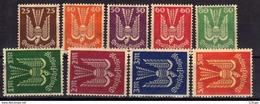 Deutsches Reich, 1923, Mi 210-218 ** (Mi 210 *), Flugpost / Air Mail [150717XIX] - Ongebruikt