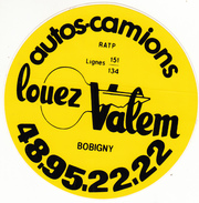 PARIS BASTILLE LOUEZ VALEM AUTOCOLANT - Aufkleber